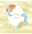 Easter card egg with wishes for a happy Easter vector image