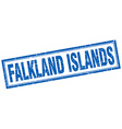 Falkland Islands blue square grunge stamp on white vector image vector image