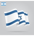 Flat and waving Israeli Flag