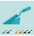 Flat design trowel vector image vector image