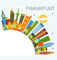 frankfurt germany city skyline with color vector image vector image