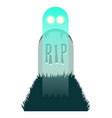 ghost rising from grave vector image vector image