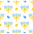 Hanukkah holiday seamless pattern background vector image