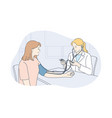 healthcare examination measure medicine concept vector image