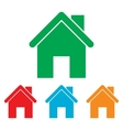 Home silhouette Colorfull set vector image vector image