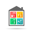 house repair concept vector image vector image
