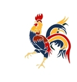 Image multicolored coming rooster on a vector image vector image