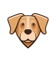 labrador retriever dog head icon vector image
