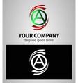 Letter A logo icon symbol set vector image vector image