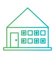 line house architecture with door and windows vector image vector image
