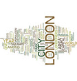 london text background word cloud concept vector image vector image
