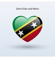 Love Saint Kitts and Nevis symbol Heart flag icon vector image