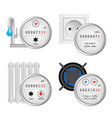 meter icon set realistic vector image