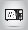 microwave flat icon microwave oven symbol logo vector image vector image