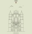 mosteiro de santa cruz in coimbra portugal vector image vector image