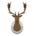 mounted deer head vector image vector image