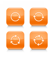 Orange icon refresh reload rotation repeat sign vector image vector image
