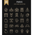 Paris Line Icons 9 vector image