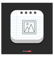 photo icon flat design style gray icon on notepad vector image