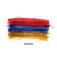 realistic watercolor painting flag armenia vector image