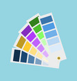 rectangular lists with palette shades vector image vector image