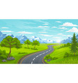 road and mountains landscape in summer vector image