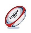 rugby ball red white and blue design vector image vector image