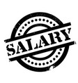salary rubber stamp vector image