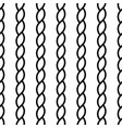 seamless nautical rope knot pattern vector image vector image