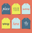set of 6 empty tags vector image