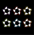 Set of colorful flower logos vector image vector image