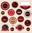 Set of sale badges labels and stickers vector image vector image