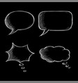 speech bubbles chat symbols on black background vector image vector image