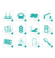 stylized road navigation and travel icons vector image vector image