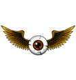 tattoo design a flying eyeball with wings vector image