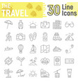 travel thin line icon set tourism symbols vector image vector image