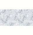 tropical seamless natural pattern exotic leaves vector image vector image