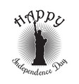 us independence day design statue of liberty vector image