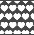 valentines day grey and white background seamless vector image vector image