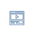 video marketingonline video clip line icon vector image vector image