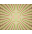 Vintage red and green rays background vector image