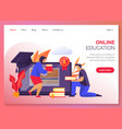 website banner for online school study courses vector image vector image