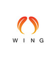 wing abstract logo vector image vector image