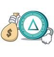 with money bag salt coin character cartoon vector image vector image