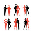 yound couples people characters set for your vector image vector image