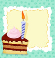 Cartoon funny Birthday cake card vector image