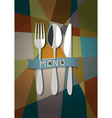 Restaurant card menu design vector image