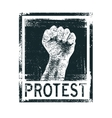 Protest poster vector image