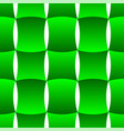 3d curve tile seamless pattern green 002 vector image vector image