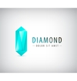 3d diamond crystal logo icon vector image vector image
